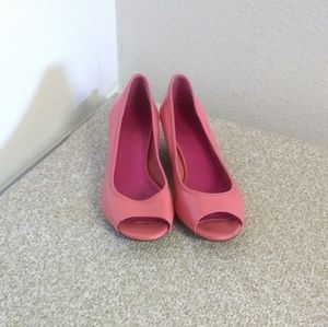 Cole Haan Pink Patent Leather Wedge Shoes
